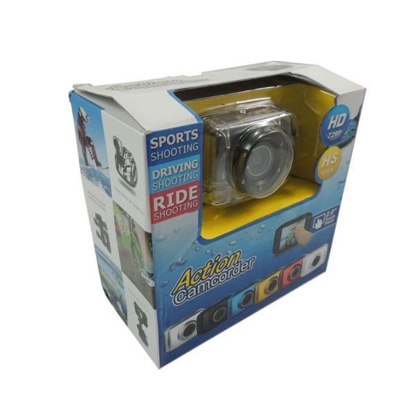 Câmera digital hd action camcorder a prova d água