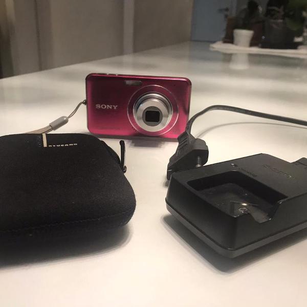 Câmera fotográfica digital sony cyber-shot rosa
