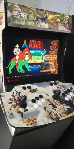 Fliperama arcade bartop com base 8400 jogos entregue canoas
