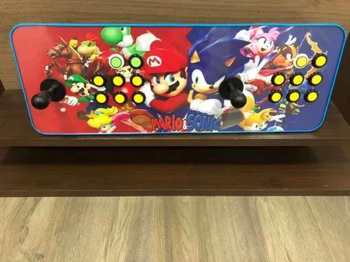 Fliperama arcade portátil multijogos