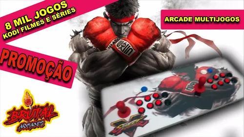 Fliperama portátil 8000 jogos + ps1 - hdmi arcade