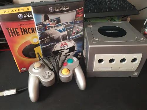 Gamecube com controle e dois jogos completo