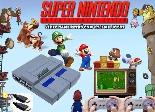 Mini super nintendo retrô 13.000 jogos + 2 controles +