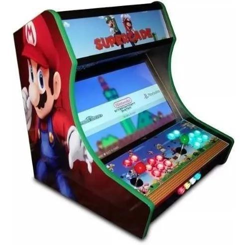Projeto mini arcade fliperama bartop medidas e corte cnc