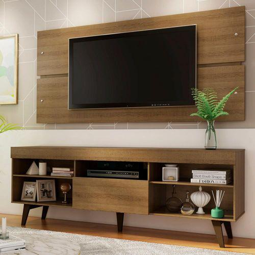 Rack com painel para tv at/u00e9 65 polegadas madesa miami