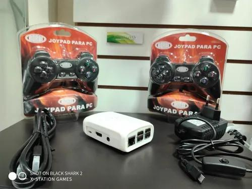 Video game xst retro raspberry pi3 b + cartão 64gb +fonte
