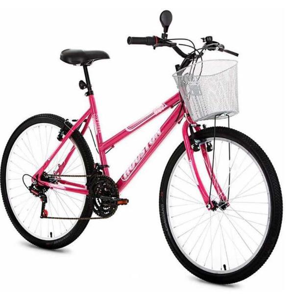 Bicicleta sundown top model rosa semi-nova