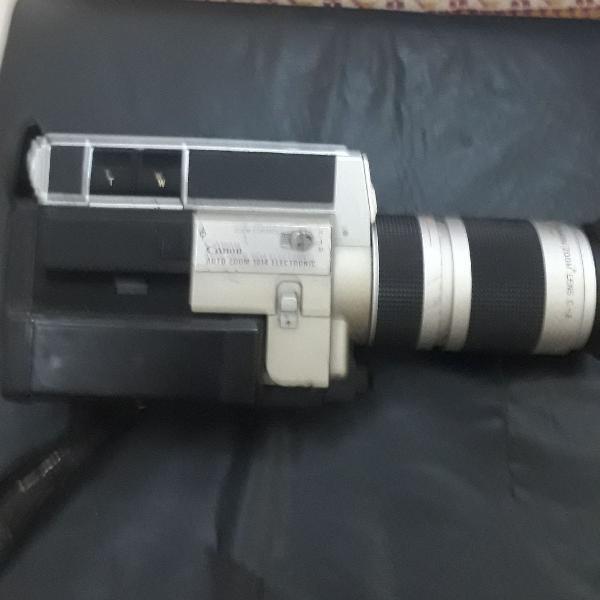 Câmera canon auto zoom, modelo 1014, electronic