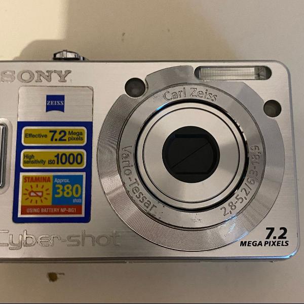 Câmera sony cyber shot 7.2 megapixels
