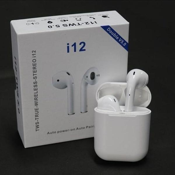 Fone de ouvido i12 tws 5.0 airpods touch screen android/ios