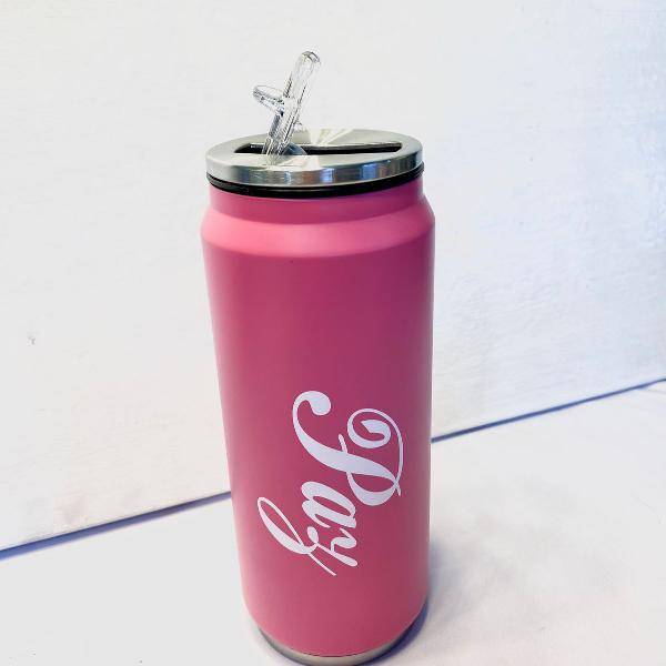 Garrafa de água inox rosa