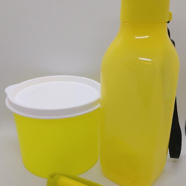 Kit academia descolado amarelo neon