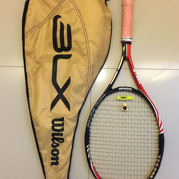 Raquete wilson blx + raqueteira
