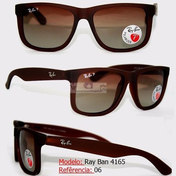 Ray ban justin preto fosco rb4181 óculos de sol ray ban