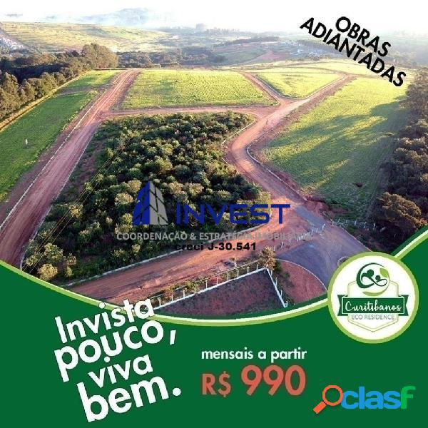Morar & investir no eco residence. lotes a partir de 1.000m²