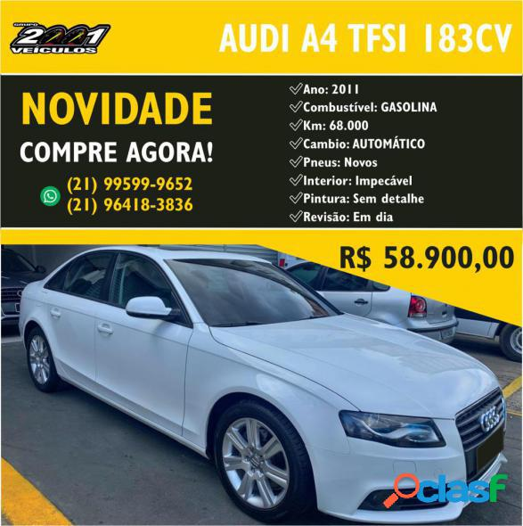 Audi a4 2.0 16v tfsi 183180cv multitronic branco 2011 2.0 gasolina