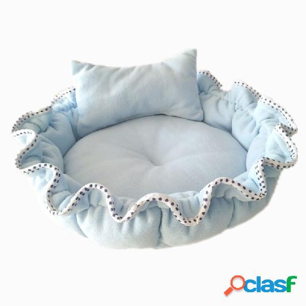 Cama macia do algodão da cama da abóbora do gato do cão de animal de estimação com coxim