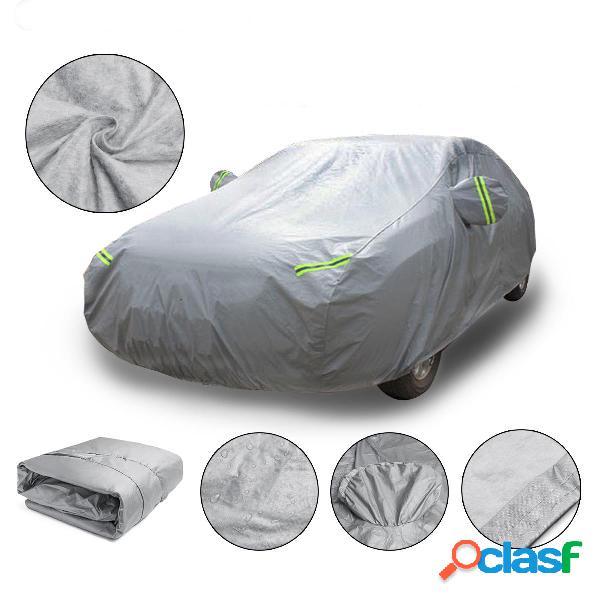 M 4.5x1.75x1.5m universal completa cobertura do carro de algodão à prova d 'água de proteção uv respirável ao ar livre