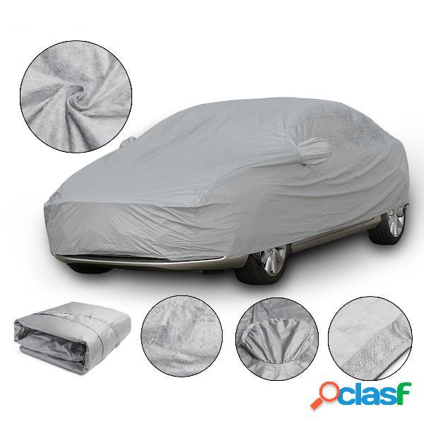 Xl 4.9x1.8x1.5m universal completa cobertura do carro de algodão à prova d 'água de proteção uv respirável ao ar livre