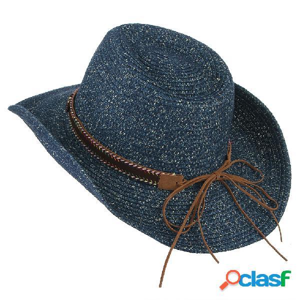 Respirável uv proteção palha chapéu wide brim bucket chapéus rodada tampas planas