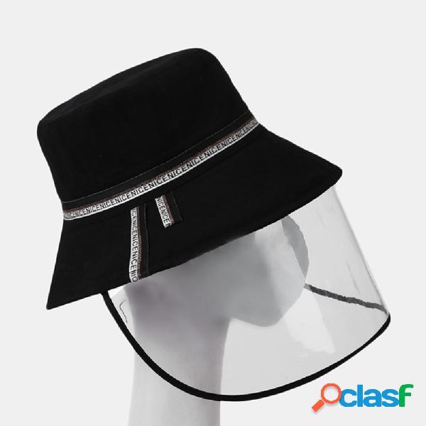 Collrown pala de sol removível fisherman chapéu tampa da tampa anti-gota rosto
