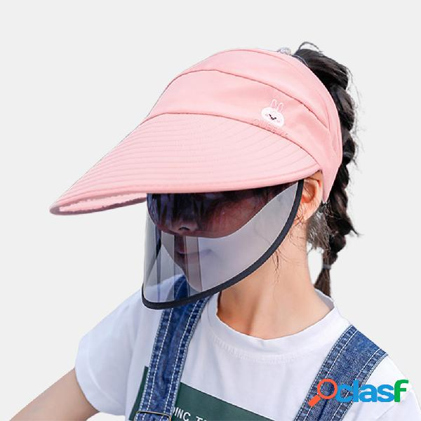 Pala de sol removível para crianças collrown chapéu sol anti-embaciamento chapéu