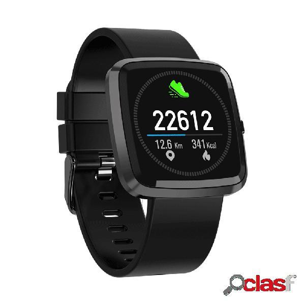 Relógio de controle de música esporte relógio de tela de toque completo relógio inteligente monitor de freqüência cardíaca
