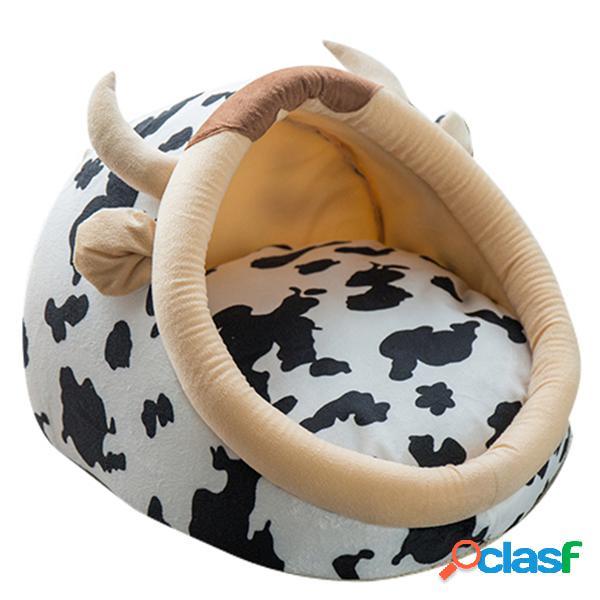 Cute animal design confortável indoor house bed filhote de cachorro gatinho pet dog cat nest pad soft fleece bed