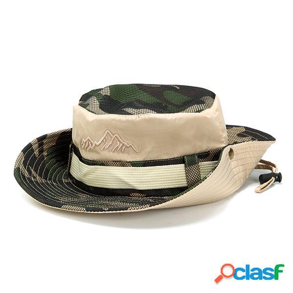 Chapéu de balde respirável de proteção uv de verão de pescador dobrável