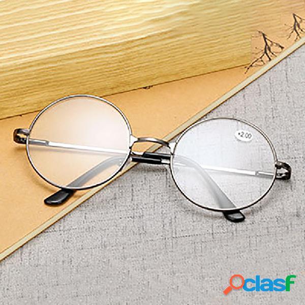 Espetáculo redondo óculos de leitura óculos de armação de metal presbiopia masculino feminino óculos de leitura retro