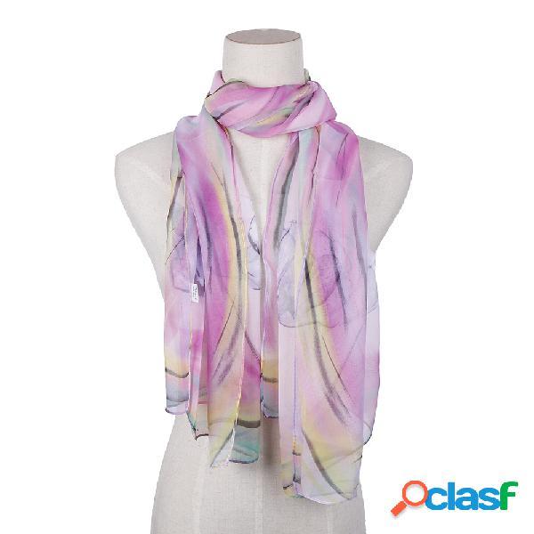 Nature seda soft cosmetologia respirável uv proteção graduado cor lenço e xaile