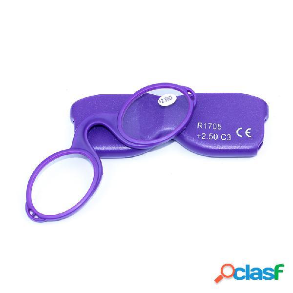 Óculos de presbiopia ótico clipe de nariz de silicone com estojo de óculos cordão