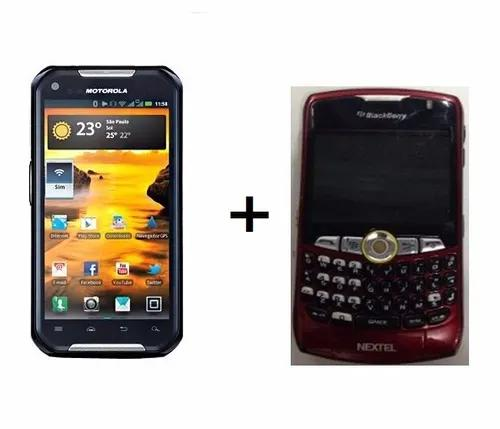 2 nextel - iron rock xt626 + blackberry i880 - usados