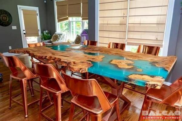 Aprenda como fazer mesa resinada..#promoção-