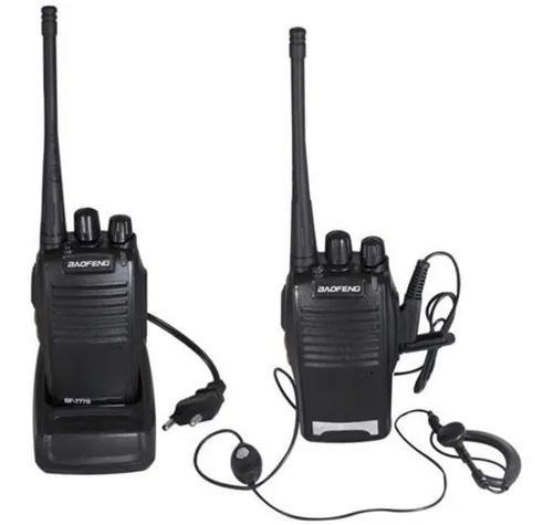 Kit 2 radio comunicador boafeng 777s ht uhf 16 canais