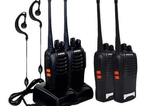 Kit 4 radio walk talk comunicador 16 ch 12km bf 777s nota/ f