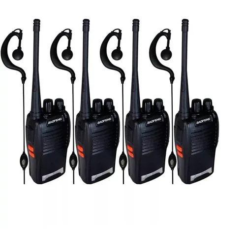 Kit 4 rádio comunicador walk talk baofeng 777s alcance 12km