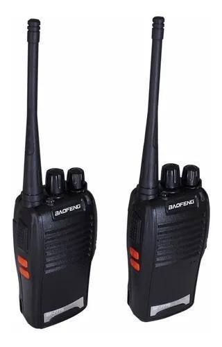 Kit com 2 radios comunicadores walk talk baofeng bf-777s
