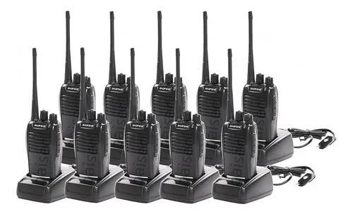 Kit10 radio comunicador walktalk talkabout profissional 777s