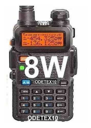 Radio ht 8w baofeng uv 5r 82 dual band fm uhf vhf profission