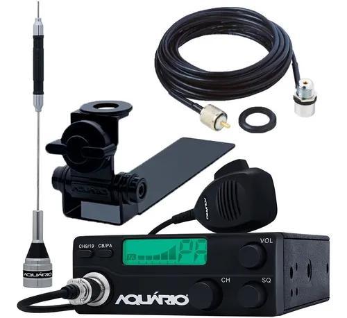 Radio px rp40 40 canais antena suporte caminhonete cabo 5,5m