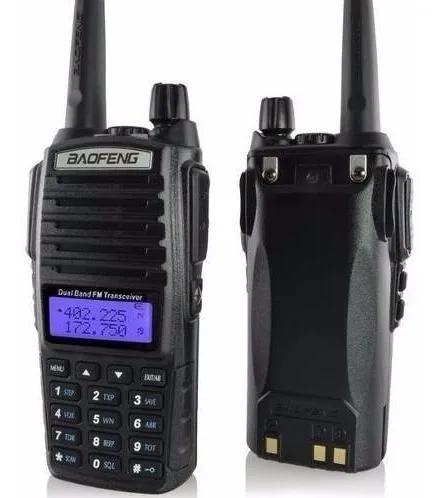Rádio ht dual band baofeng 8w uhfvhf uv-82 fone