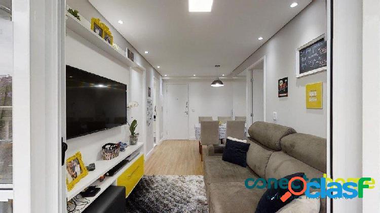 Apartamento de 48 m², 2 dormitórios e 1 vaga no belém