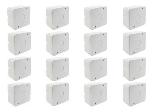 Caixa plastica organizadora camera cftv parafuso kit 16 pçs