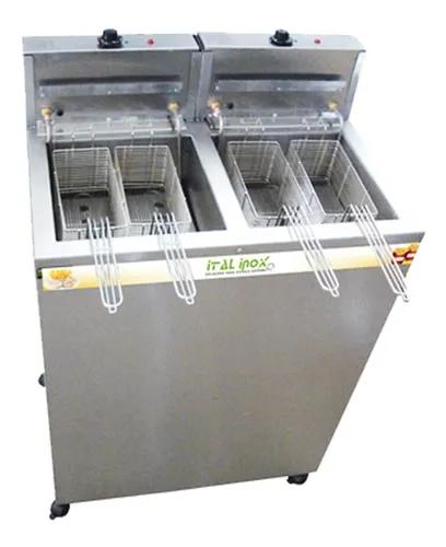 Fritadeira água e óleo 36l gabinete ital inox profissional