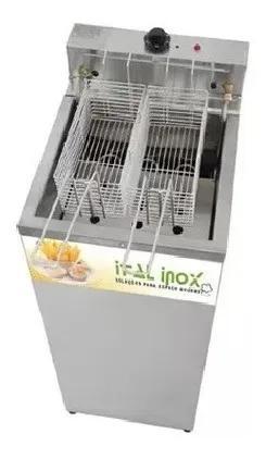 Fritador água e óleo 18 lts gabinete ital inox classic