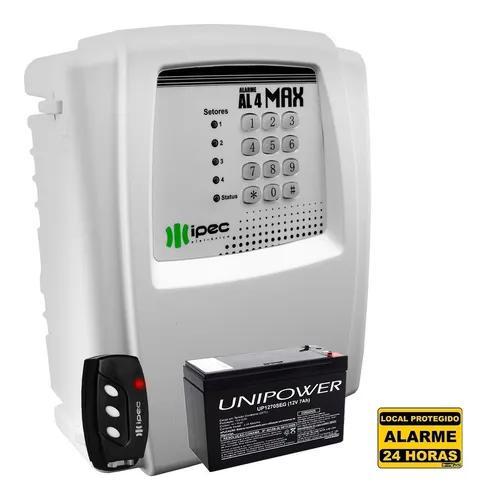 Kit central alarme residencial com discadora e bateria