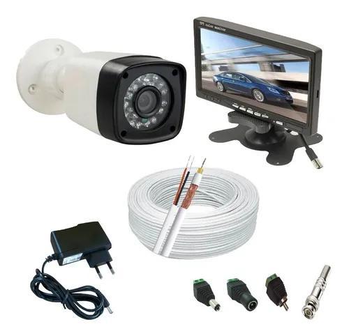 Kit cftv 1 câmera infravermelho full hd 2.0 mp+ monitor lcd