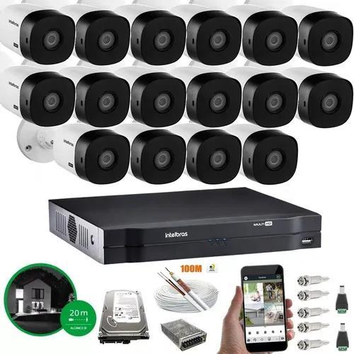 Kit intelbras 16 cameras vhl 1120b dvr mhdx 1116 c/ hd 1tb