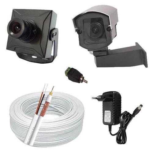 Kit monitoramento 1 mini câmera de segurança completo p/